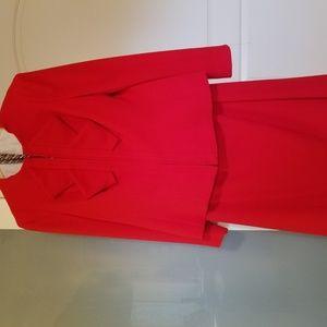 Red Escada Suit
